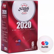 М'ячі DHS WTTC Busan 2020 DJ40+ 3*(6 шт)
