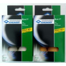 М'ячі Donic-Schildkrot 1* ELITE 40+ plastic (6шт)