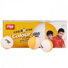 М'ячі для настільного тенісу DHS Cell-Free Dual BI Colour(10 шт)