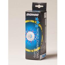 Мяч Donic P40+ 3*  Plastic (3 шт, белый)
