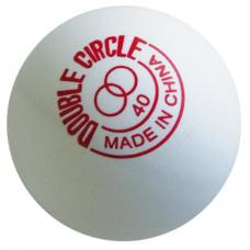 Мячи DHS пластик 40+мм бел. DUAL DOUBLE CIRCLE 120 шт.