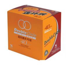 М'ячі DHS Double Circle (коробка 144 шт.) білі