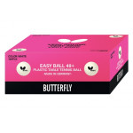 Мячи Butterfly Easy Ball 40+ (120 шт.) белые